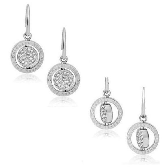 5f09c07c180f3 Michael Kors Silver Tone Flip Glitz Drop Earrings